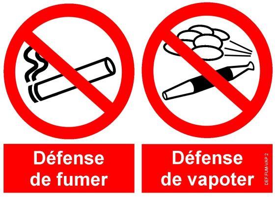Interdiction de vapoter depuis le 1er octobre 2017