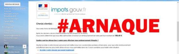 #Arnaques Emails intitulés Impots.gouv.fr