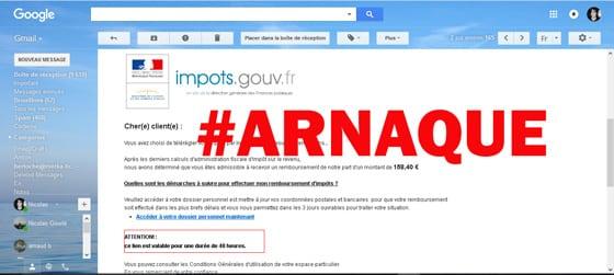 arnaque impots.gouv.fr